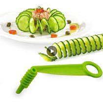 Blade Spiral Slicer Kitchen Tools Cooking Hand Cutter Accessories Reusable Manual Potato Vegetables Cucumber Portable Plastic