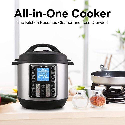 11-in-1 Electric Pressure Cooker,  Slow Cooker, Rice Cooker, Steamer, Saute, Yogurt Maker, And Warmer, 6.5 Quart