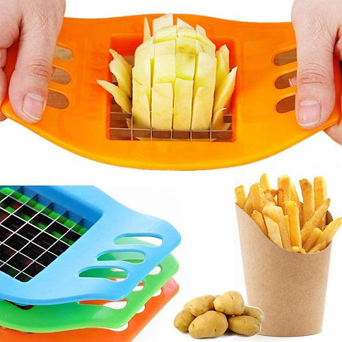 French Fry Potato Chip Cutter Stainless Steel Vegetable Fruit Carrot Chopper Chips Easy Cut Kitchen Tools Gadgets Accessories