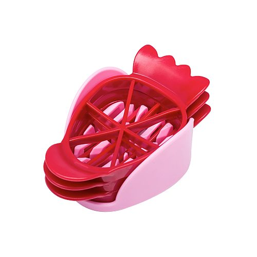 1PC Kitchen Mini Strawberry Slicer Stainless Steel Cake Fruit Slicer Home Kitchen DIY Gadget - Ideal For Cakes Pies Decorations