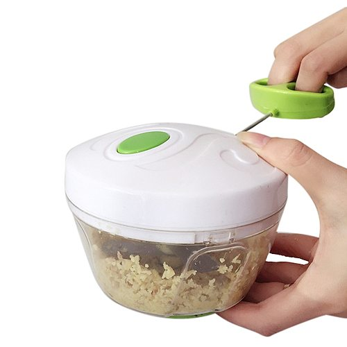 Hand Chopper Manual Rope Food Hand Chopper Kitchen Tool Home Processor Silcer Shredder Salad Maker Garlic Onion Slicer Cutter F