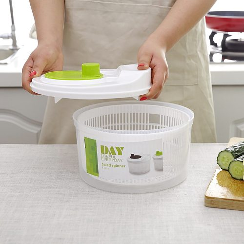 Salad Spinner Lettuce Green Washer Dryer Drain Crisper Strainer for Washing Drying Leafy Fruit Vegetable Kitchen Accessory#s