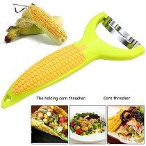 The Magic Corn Zipper Peeler Corn Peeler Stripper Cob Cutter Thresher Fruit Vegetable Cooking Tools Cob Remover