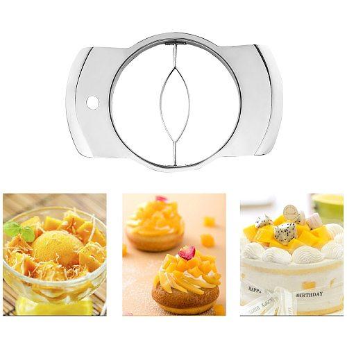 Kitchen Fruit Corer Mango Cutter Stainless Steel Blade Peeler Splitter Peach Slicer Creative Gadget Accessories Peel Knife