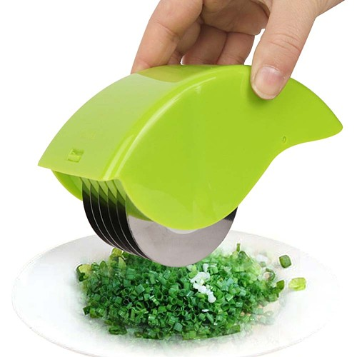 6 Wheels Vegetable Chopper Herb Rolling Cutter Stainless Steel Blade Onion Vegetable Chopper Roll Mincer Kitchen Gadgets