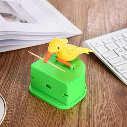 Cute Hummingbird Toothpick Dispenser Gag Holder Gift Cleaning Teeth High Quality Material Automatic Bird Toothpick Box Hot Sale