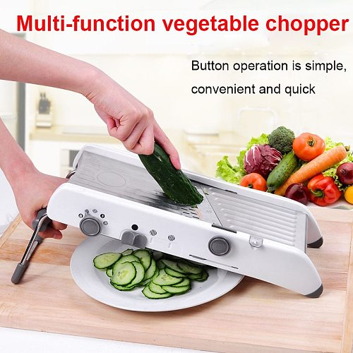 Mandoline  Vegetable Cutter Slicer Manual Professional Grater With Adjustable 304 Stainless Steel Blades Vegetable Kitchen Tool