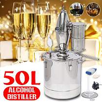 20L/30L/50L DIY Moonshine Alcohol Distiller Still Stainless With Circulating Pump Water Wine Brandy Essential Oil Brewing Kit