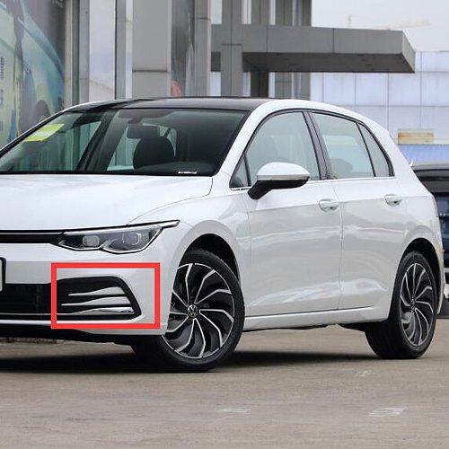 For Volkswagen VW Golf 8 MK8 280TSI Pro 2021 2022 ABS Chrome Front Fog Light Cover Trim Bezel Garnish Foglight Bumper Styling