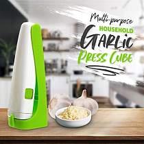 Multi-purpose Garlic Press Cube Garlic Cutter Magic Garlic Cube Cutter Presser Squeeze Garlic Cuber Press Chopper Slicer