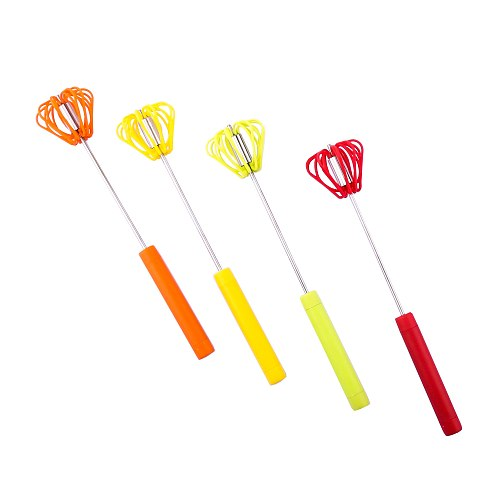 Semi Automatic Mixer Egg Beater Candy Color Manual Self Turning Egg Whisk Cream Stiring Paste Hand Blender Kitchen Baking Tool