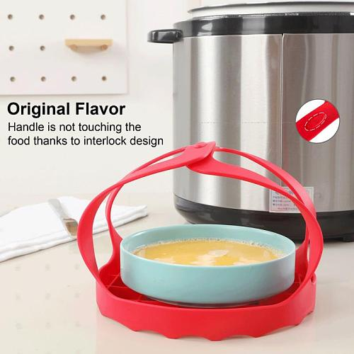 Heat Resistant Silicone Pressure Cooker Steaming Grid With Mesh Mat Cookware Accessories Multi-purpose Steaming Grid Egg Steamer