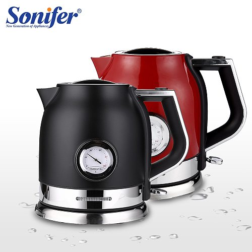 1.8L Electric Kettle Stainless Steel Tea Coffee Thermo Pot Kitchen Smart Whistle Kettle Samovar With Temperature Display Sonifer