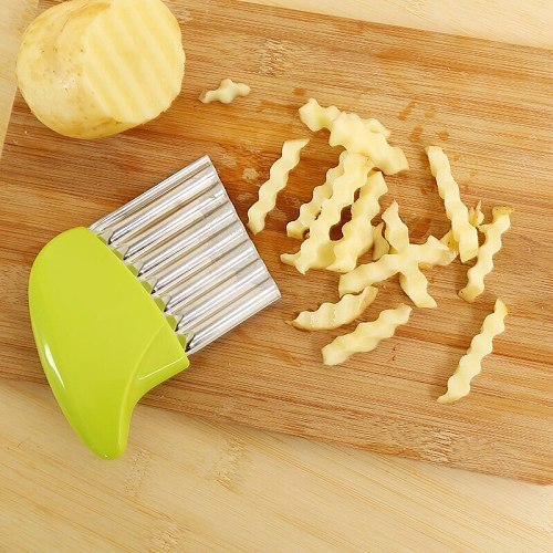 Wave Onion Potato Slices Wrinkled French Fries Salad Corrugated Cutting Chopped Potato Cutter Knife Convenient Gadgets Cocina