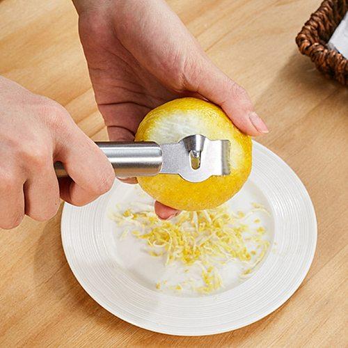 Lemon Peeler Stainless Steel Lemon Zester Grater Orange Citrus Fruit Grater Peeling Knife Kitchen Gadgets Bar Accessories