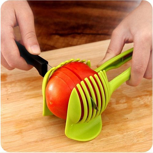Creative Potato Slicer Tomato Cutter Shreadders Fruit Lemon Cutting Holder Slice Assistant Cooking Tools Kitchen Accessories