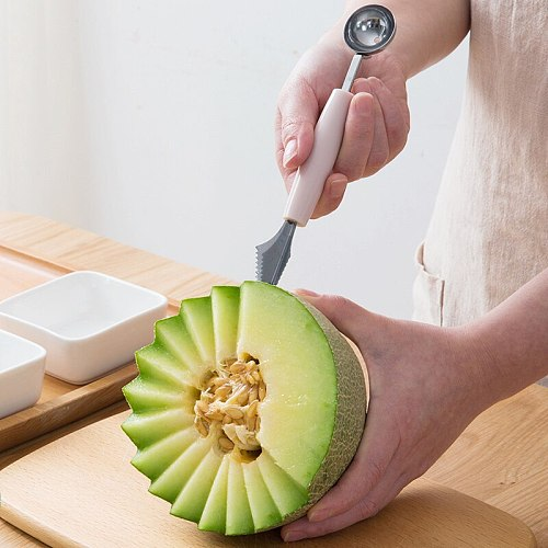 Multi Function Fruit Carving Knife Watermelon Baller Ice Cream Dig Ball Scoop Spoon Baller Kitchen DIY Cold Dishes Tools Gadgets