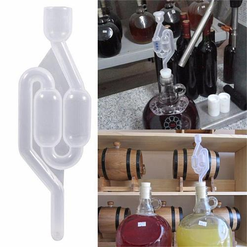 One-way Wine Beer Brewing Fermentation Check Valve Plastic Air Lock Water Seal Home Winemaking Exhaust Valve Fermenter Yeast