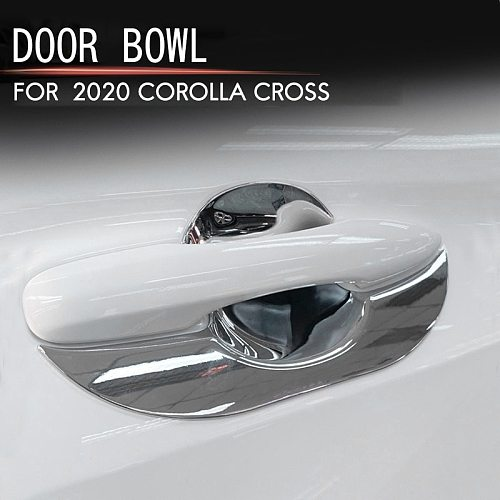 for Toyota Corolla Cross 2020 2021 ABS Door Handle Bowl Cover Cup Cavity Trim Insert Catch Molding Garnish