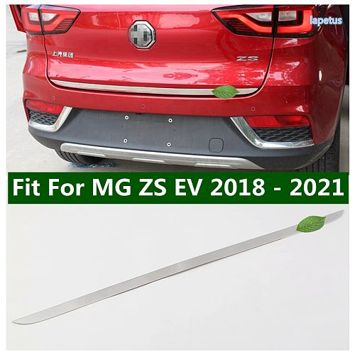 Auto Rear Trunk Lid Edge Tailgate Boot Door Lower Cover Trim Garnish Molding Strip Exterior Accessories For MG ZS EV 2018 - 2021