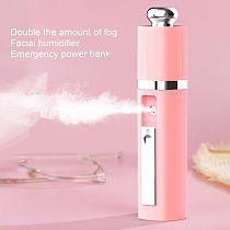 30mL USB Charging Face Spray Nano Mist SPA Mini Facial Steamer Portable Hydrating Moisturizing Handy Sprayer Beauty Equipment