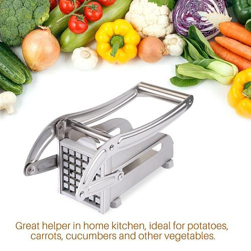 2 Blades Stainless Steel French Fry Potato Cutter Slicer Chipper For Cucumber Vegetables Carrot
