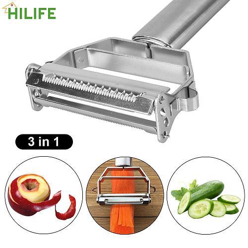 Multi-function Kitchen Potato Peeler Vegetable Fruit Peeler Carrot Grater Slicer Shredder Kitchen Tools Stainless Steel