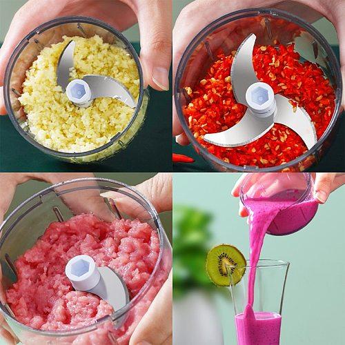 High Quality Multifunction New High Speedy Design Garlic Vegetable Fruit Shredder Electric Meat Grinder Chopper Garlic Crusher