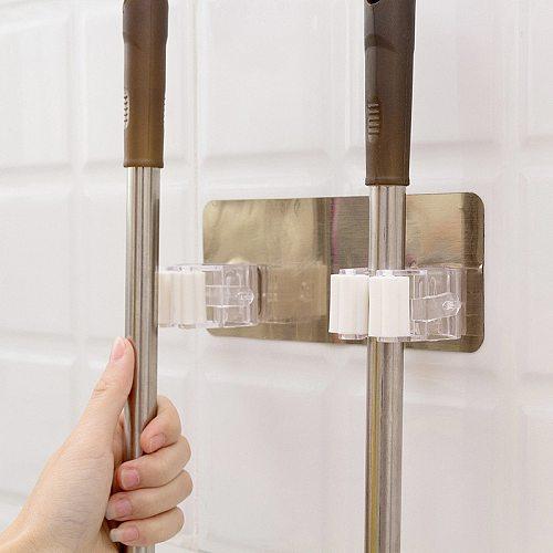 1 Pcs Kitchen Accessories Wall Mounted Mop Organizer Holder Brush Rack Broom Hanger Hook Kitchen Tools Hook Kitchen Gadgets