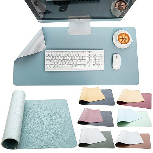 Gaming Mousepad Locking Edge PU Leather Desk Mat Keyboard Mouse Pad Waterproof Office Desk Pad For Desktop PC Computer Laptop