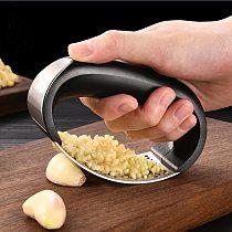 Slicers Manual Slicer Stainless Steel Garlic Press Kitchen Tools Crusher Press Rocker Roller Slicer for Ginger Kitchen Tools