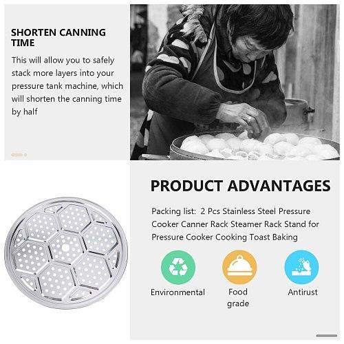 Stainless Steel Pressure Cooker Canner Rack Steamer Rack Stand for Pressure Cooker Cooking Toast Baking