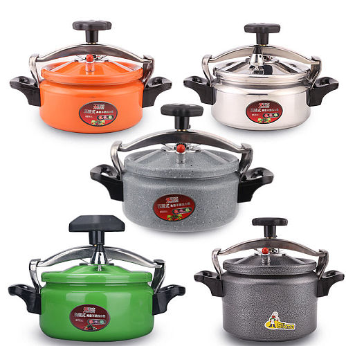Mini Pressure Cooker Small Pressure Cooker Household Commercial Gas Open Flame Universal 2-3 People Use Cooker Aluminium Cooking