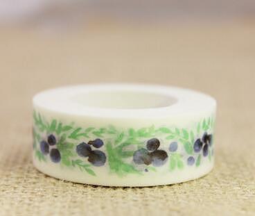 2PCS Lovely Blueberry washi tape DIY decoration Scrapbooking Sticker Label Masking Tape School Office Supply