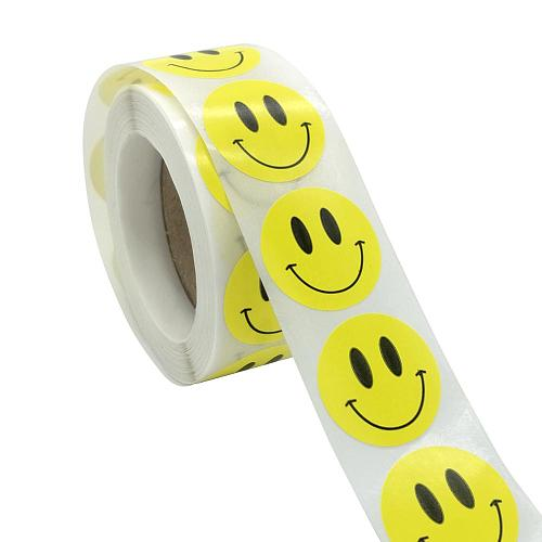 Smiley Face Sticker for Kids Reward Sticker Yellow Dots Labels  Smile Face Party Sticker Label Gift Birthday Decoration Supplies