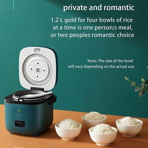 OAPE Drop Shipp 220V 1.2L Cute Rice Cooker Small 5 Colors 1-2 Person Household Single Kitchen Mini Appliances WIth Handle