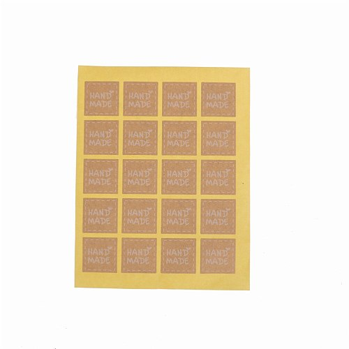 200pcs  Handmade Sticker Vintage Blank Kraft Label Sticker DIY Hand Made For Gift Cake bake Sealing Sticker