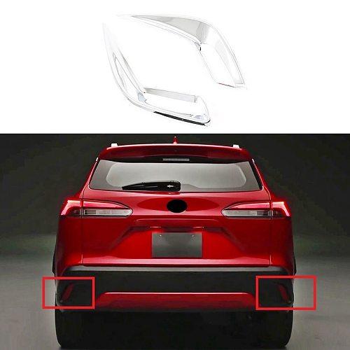 for Toyota Corolla Cross 2020 2021 ABS Rear Fog Light Lamp Bezel Cover Trim Exterior Garnish