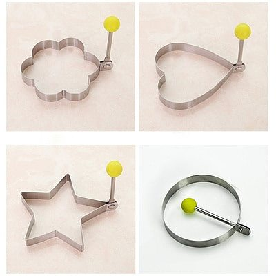 Stainless Steel 4Style Fried Egg Pancake Shaper Omelette Mold Mould Frying Egg Cooking Tools Kitchen Accessories Gadget Rings