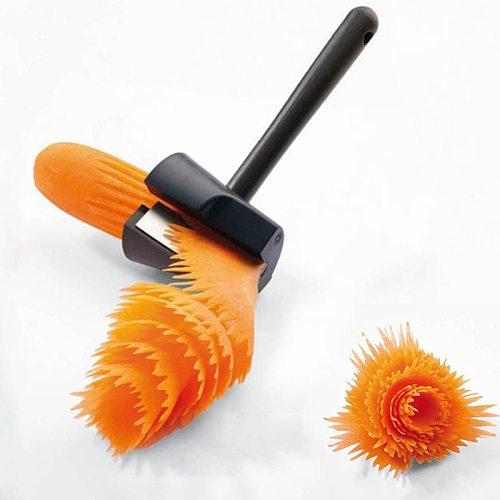 Kitchen Accessories Fruit Vegetable Slicer Kitchen Supplies Roll Flower Decorative Potato Carrot Cutter Slicer