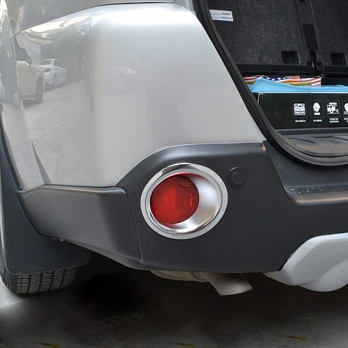 For Nissan X-Trail T31 2008-2013 ABS Plastic Rear Fog Light Lamp Cover Trim Foglight Molding Garnish Bezel Car-styling