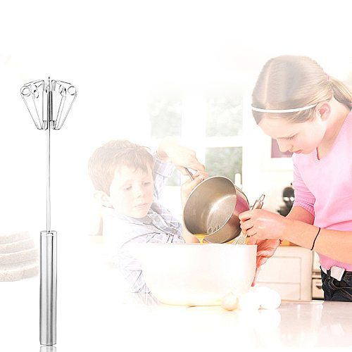 2021top home decor Stainless Steel Semi-Automatic Whisk Mixer Balloon Egg Milk Beater Cooking Tool