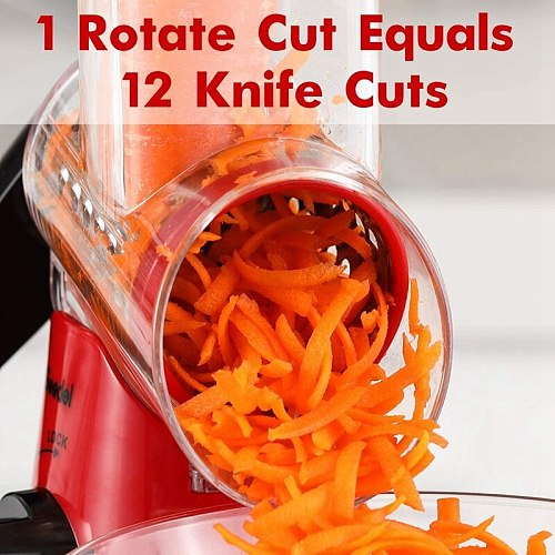 Rotary Cheese Grater Handheld, Vegetable Mandoline Slicer Easy Cleaning, Kitchen Cheese Grater Shredder
