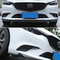 For Mazda 6 Atenza M6 2017 2018 Car Styling Chrome Front Head Fog Light Lamp Cover Trim Bumper Molding Garnish Eyebrow Eyelid