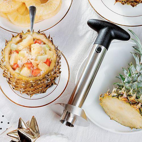 Easy Kitchen Tool Stainless Steel Pineapple Fruit Corer Slicer Cutter Peeler New M2EE