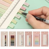 DIY Loose-Leaf Sticky Notes Novelty Memo Pad New Paster Sticker Index Flags Tab Strip Fashion Label Bookmark Office Supplies