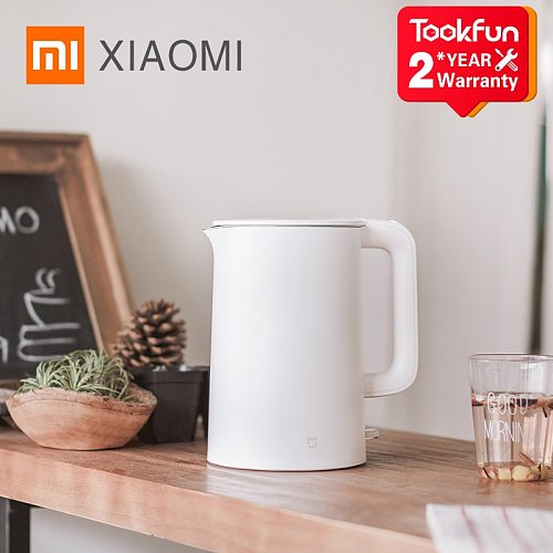 Original XIAOMI MIJIA Electric kettle fast Hot boiling stainless teapot samovar kitchen Water Kettle Mi home 1.5L Insulation