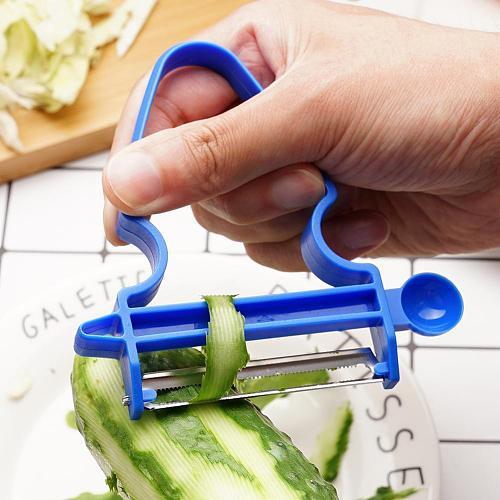 Hot 3pcs/set Multi-purpose Vegetable Peeler Potato Accessories Creative Fruit New Tools Slicer Vegetable Kitchen B5M1