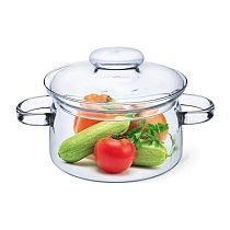 Home Transparent Glass of Soup Stockpot Kitchen Heat Resistant Pot Home Glass Bowl Kitchen Cooking Tools Glass Pots 3 Liter/3000 ML