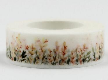 2PCS Cute flower grass washi tape masking tape DIY decoration Scrapbooking Sticker Label Masking Tape School Office Supply